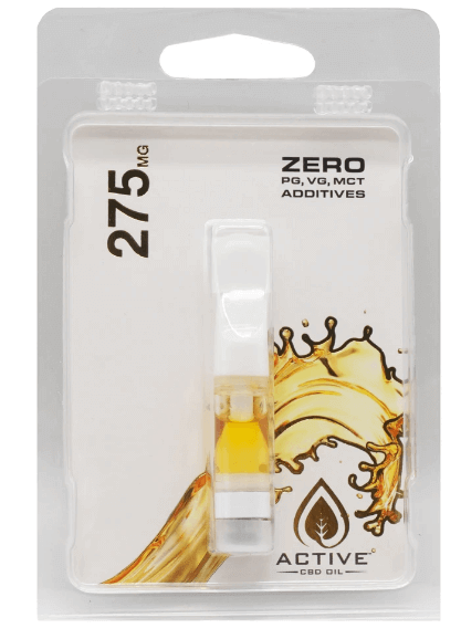 Active CBD Oil Distillate Cartridges